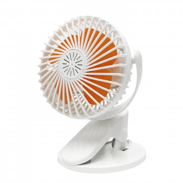 Safety Rechargeable Clip on Fan - White