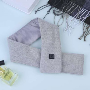 Smart Heating Scarf - Zigzag Grey