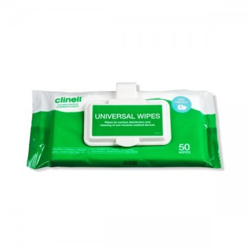 Universal Wipes Clip Pack (50pcs)