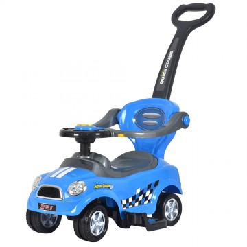 3 in 1 Ride On Push Car - Blue
