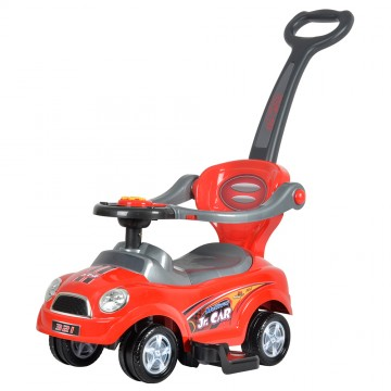 3 in 1 Ride On Push Car - Red