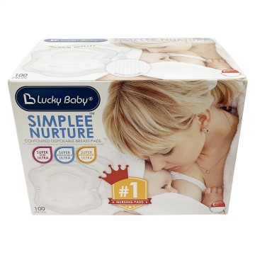 Simplee Nurture™ Contoured Disposable Breast Pads (100pcs)