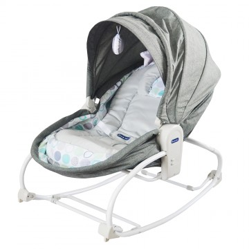 Rocky Snoozy™ 3 In 1 Rocker/Sleeper/Chair - Grey