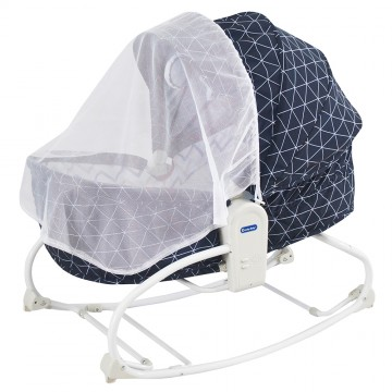 Rocky Snoozy™ 3 In 1 Rocker/Sleeper/Chair - Navy