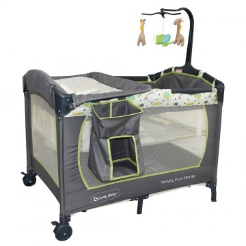 S8™ Travel Playpen + IBreathe Foldable Mattress - Giraffe