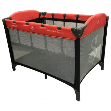 S6™ Travel Playpen + IBreathe Foldable Mattress - Red