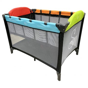 S6™ Travel Playpen + IBreathe Foldable Mattress - Colourful