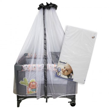 S10 Bedside Playpen + iBreathe Mattress - Lion