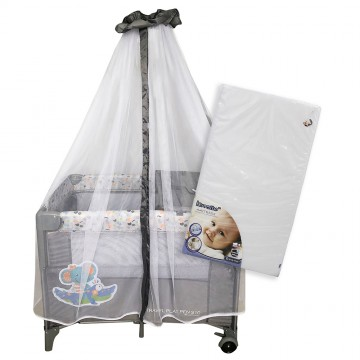 S10 Bedside Playpen + iBreathe Mattress - Elephant
