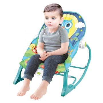 Infant to Toddler Rocker (Vibration/Music) - Owl