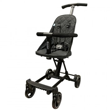 (Bundle) City Travel™ Active Stroller + City Jifee™ Convertible Multi Rider BLACK