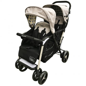 City Dou™ Twin Stroller - Beige