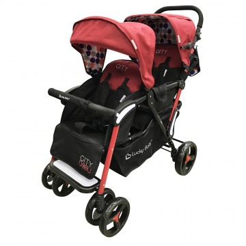City Dou™ Twin Stroller - Red