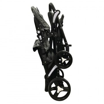 City Dou™ Twin Stroller - Black