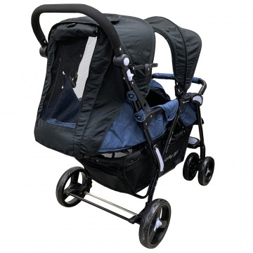 City Dou.2™ Twin Stroller - Denim Blue