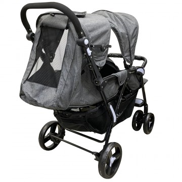 City Dou.2™ Twin Stroller - Denim Grey