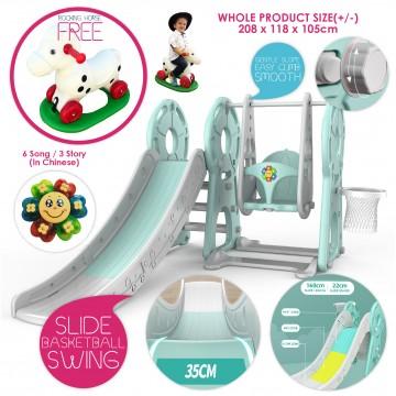Smart System™ Safety 3 in 1 Toddler Slide/Swing Playground (Indoor/Outdoor)