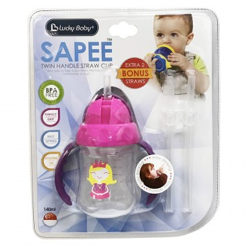 Sapee™ Twin Handle Straw Cup (140ml)