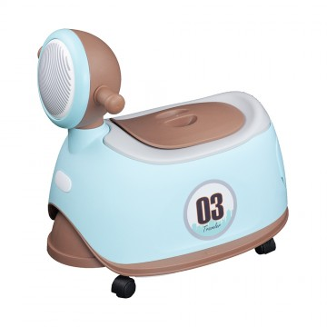Motor Potty W/Wheel (Blue/Green)