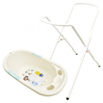 Bubble™ Bath + Tub Stand (Beige)