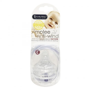 Simplee™ Anti-Wind PP Wide Neck Silicone Nipple Fast Flow