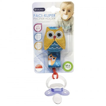 Paci-Kliper™ Pacifier Holder - Owl