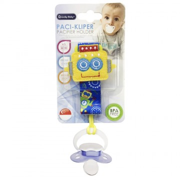 Paci-Kliper™ Pacifier Holder - Robot