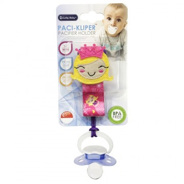 Paci-Kliper™ Pacifier Holder - Princess