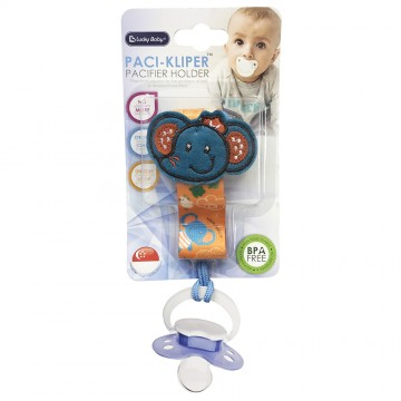 Paci-Kliper™ Pacifier Holder - Elephant