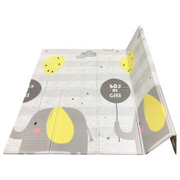 Tell Me A Story™ Educative XPE Dual Foldable Mats - ZigZag/Elephant (10mm)