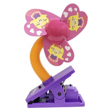 Mini Safety Clip on Fan W/Ultrasonic Mosquito Repellent - Princess