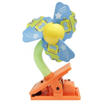 Mini Safety Clip on Fan W/Ultrasonic Mosquito Repellent - Robot