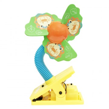 Mini Safety Clip on Fan W/Ultrasonic Mosquito Repellent - Lion
