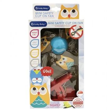Mini Safety Clip on Fan W/Ultrasonic Mosquito Repellent - Owl