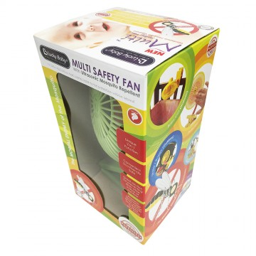 Mini Safety Net Fan W/Ultrasonic Mosquito Repellent - Green