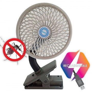 Multi Ultrasonic Rechargeable Mosquito Repellent + Fan (Black)