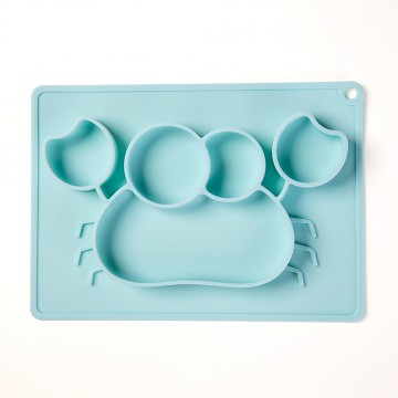 Divee™ Silicone Divided Plates - Blue