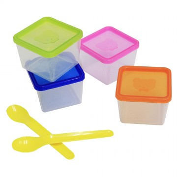 Stack-U-Neat™ Food Storage Containers & Spoons
