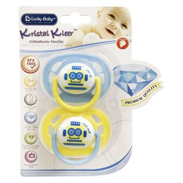 Kristal Kleer™ Orthodontic Pacifier - Robot (0m+)