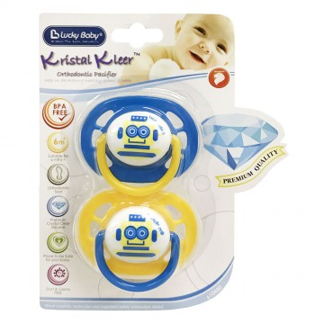 Kristal Kleer™ Orthodontic Pacifier - Robot (6m+)