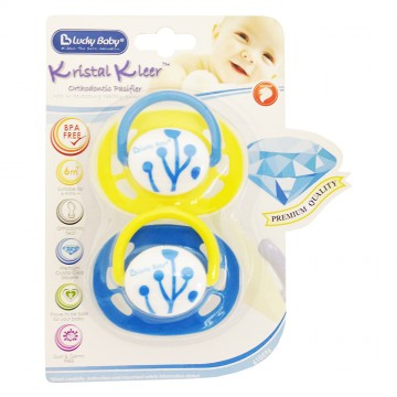 Kristal Kleer™ Orthodontic Pacifier - Flora/Leaf (6m+)