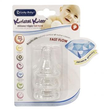 Kristal Kleer™ Silicone Nipple Fast Flow (3pcs)