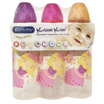 Kristal Kleer™ Standard Neck Bottle - Princess 240ml (3pcs)