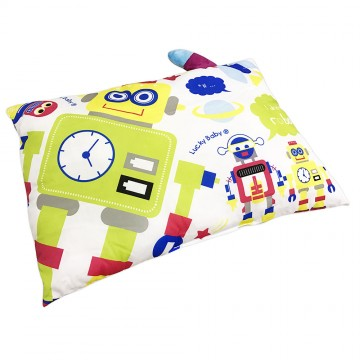 Children Pillow W/Case - Robot