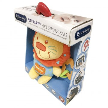 Petit Play™ Pull String Pals - Logan Lion