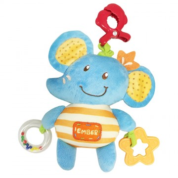 Petit Play™ Pull String Pals - Ember Elephant