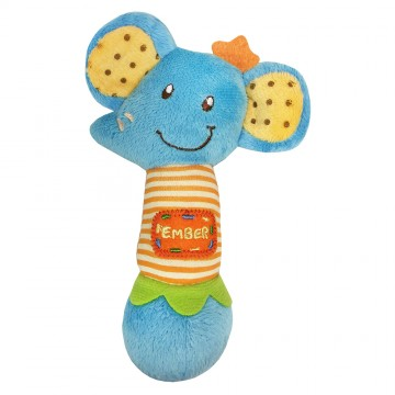 Petit Play™ Soft Rattle Series - Ember Elephant