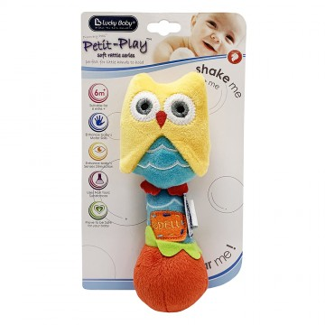 Petit Play™ Soft Rattle Series - Owl
