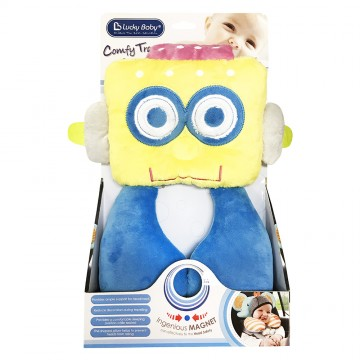 Comfy Travel Pals™ Support Pillow - Robot