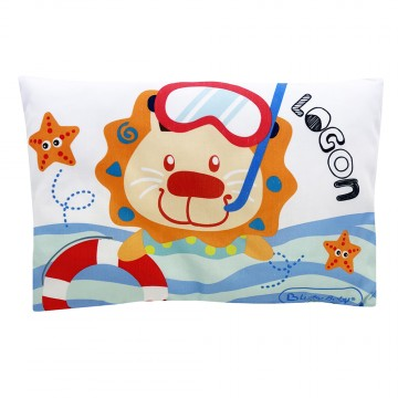 Baby Pillow W/Cover - Surf Logon